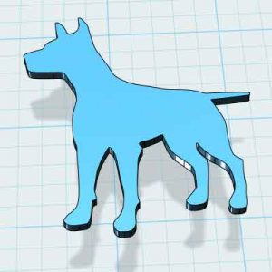 Куче за украса 3д