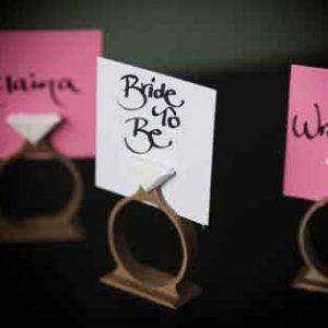 Поставка за табелка тип пръстен