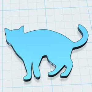 Котка за украса 3д