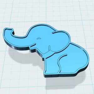 Слонче за украса 3д