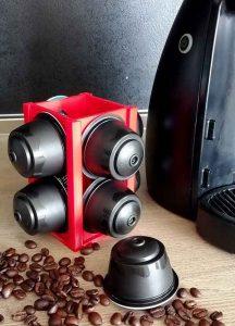 Поставка за капсули кафе червена