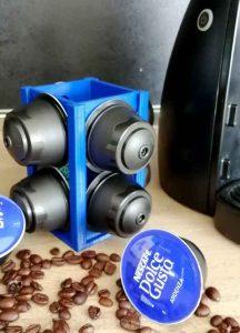 Поставка за капсули кафе синя