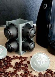 Поставка за капсули кафе сива