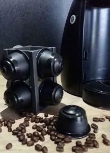 Поставка за капсули кафе Черна